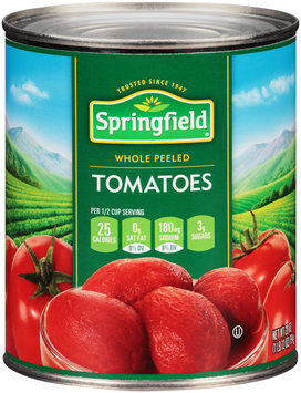 Springfield® Whole Peeled Tomatoes 28 oz. Can