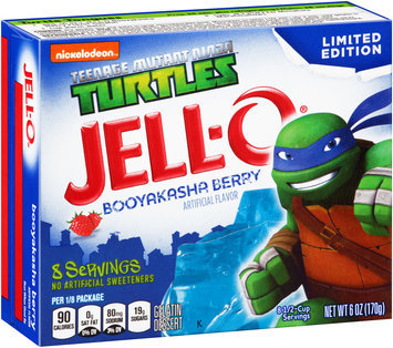 Jell-O® Teenage Mutant Ninja Turtles Booyakasha Berry Gelatin Dessert Mix 6 oz. Box