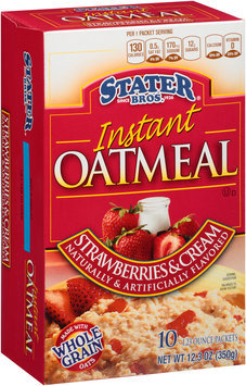 Stater bros® Strawberries & Cream Instant Oatmeal 1 Packets