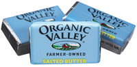 Organic Valley Continential Butter .34 oz Portions 200 Ct