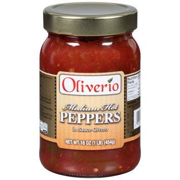 Oliverio Medium Hot Peppers in Sauce Olvero 16 oz. Jar