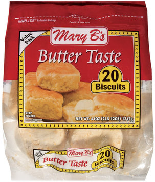 Mary B's Butter Taste 20 Ct Biscuits 44 Oz Bag
