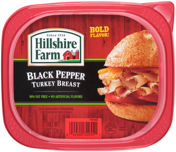 Hillshire Farm Black Pepper Turkey Breast 8 oz. Tub