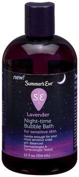 Summer's Eve® Lavender Night-Time Bubble Bath for Sensitive Skin 12 fl. oz. Bottle
