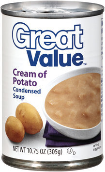 Great Value Cream of Potato Condensed Soup 10.75 Oz Pull-Top Can