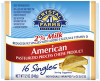 Crystal Farms® 2% Milk American Cheese Slices 16 ct, 12 oz Wrapper