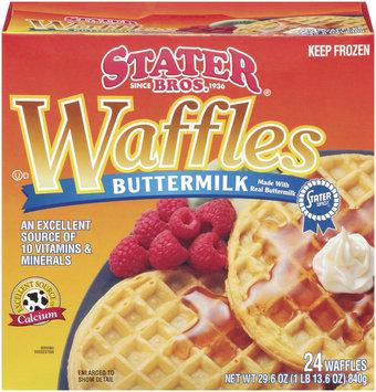 Stater Bros. Buttermilk 24 Ct Waffles 29.6 Oz Box