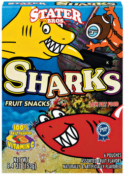 Stater Bros. Sharks Assorted Fruit Snacks
