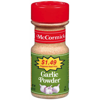 Dry Onion & Garlic $1.49 Garlic Powder 3.12 Oz Shaker