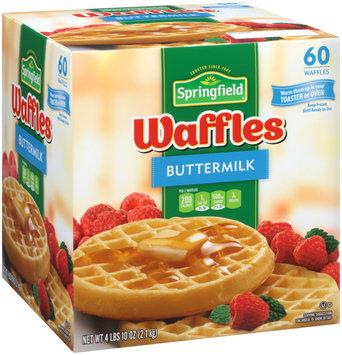 Springfield Buttermilk Frozen Waffles 4 lb. Box