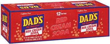 Dad's Old Fashioned® Red Cream Soda 12 ct 12 oz