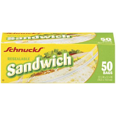 Schnucks Sandwich Resealable Bags 50 Ct Box