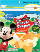 Sargento® Disney Mild Cheddar & White Cheddar Cheese Fun Shapes