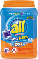 all® OXI mighty pacs® Laundry Detergent 56 Loads 2.96 lb. Tub