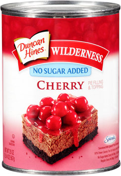 Duncan Hines® Wilderness® No Sugar Added Cherry Pie Filling & Topping 21 oz. Can