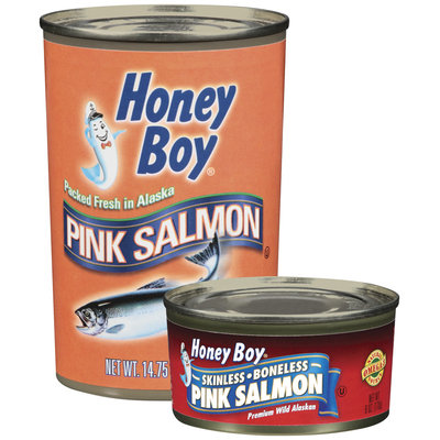 Honey Boy Skinless Boneless Premium Wild Alaskan Pink Salmon 6 Oz Can
