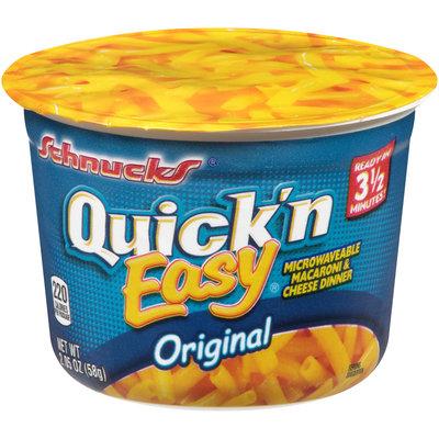 Schnucks® Quick 'n Easy® Original Microwavable Macaroni & Cheese Dinner 2.05 oz. Microcup