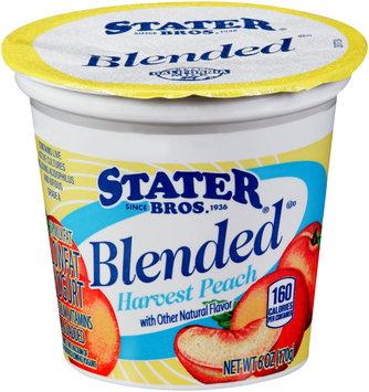 Stater® Bros. Blended Harvest Peach Yogurt 6 oz. Cup