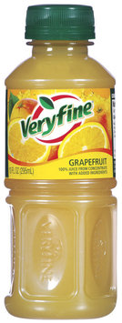 Veryfine Grapefruit 100% Juice 10 Oz Plastic Bottle