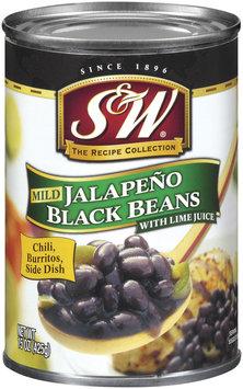 S&W Mild Jalapeno W/Lime Juice Black Beans