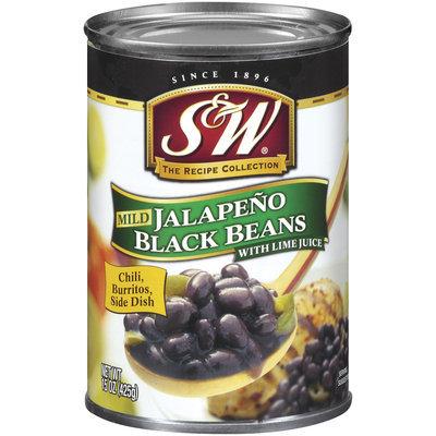 S&W Mild Jalapeno W/Lime Juice Black Beans 15 Oz Can
