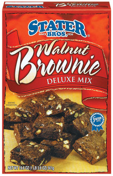 Stater Bros. Walnut Deluxe Brownie Mix 19.8 Oz Box