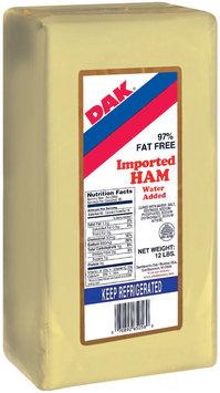 Dak Imported Water Added Deli Ham 12 Lb Wrapper