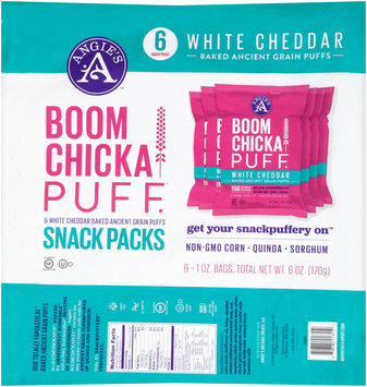Angie's™ Boomchickapuff™ White Cheddar Snack Packs 6-1 oz. Bags