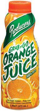 Producers 100% Pure Grab 'n Go Orange Juice 1 Pt Plastic Bottle