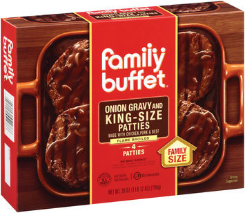 Family Buffet & Onion Gravy 4 Ct King Size Patties 28 Oz Box