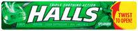 Halls® Spearmint Cough Suppressant/Oral Anesthetic Menthol Drops 9 ct Pack