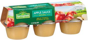 Springfield® Natural Apple Sauce 6-4 oz. Cups