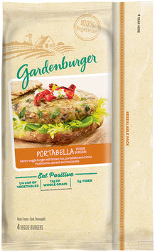 Gardenburger® Portabella Veggie Burgers 4 ct Bag