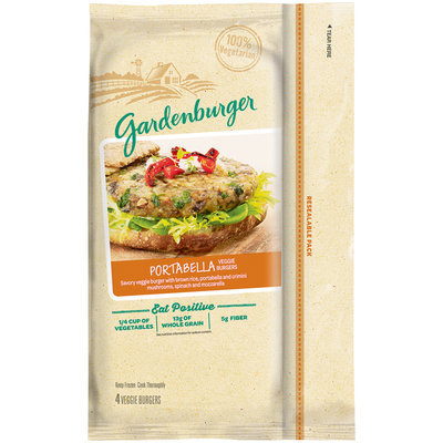 Gardenburger® Portabella Veggie Burgers 4 ct Bag