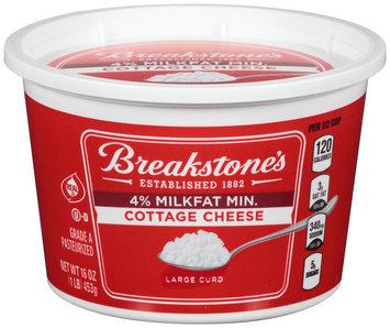 Breakstone's Large Curd 4% Milkfat Min. Cottage Cheese 16 oz. Tub