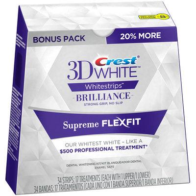 Whitestrip 3D White Luxw Crest 3D White Whitestrips Supreme FlexFit - Teeth Whitening Kit 17 Treatments