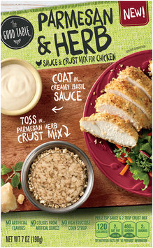 The Good Table™ Parmesan & Herb Sauce & Crust Mix for Chicken 7 oz. Box
