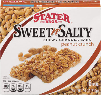 Stater Bros ® Sweet N' Salty Chewy Granola Bars Peanut Crunch 6 Ct 7.4 Oz Box