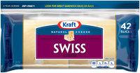 Kraft Natural Swiss Cheese Slices 42 ct ZIP-PAK®