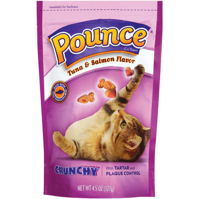 Pounce Tartar Control Crunchy Tuna & Salmon Flavor Cat Treats, 4.5-Ounce