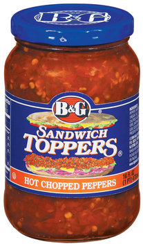 B&G Peppers Hot Chopped Sandwich Toppers 16 Oz Jar