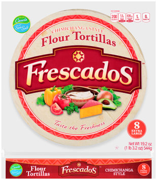 Frescados™ Chimichanga Style Extra Large Flour Tortillas 19.2 oz. Bag