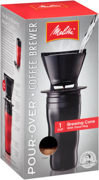 Melitta® Pour-Over™ Black Coffee Brewer with Travel Mug Box