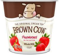 Brown Cow Strawberry on the Bottom Cream Top Yogurt 6 oz. Cup