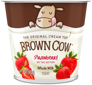 Brown Cow Strawberry on the Bottom Cream Top Yogurt 6 oz. Cup