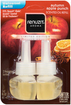 renuzit® aroma universal refill scented oil refill autumn apple punch 2 ct