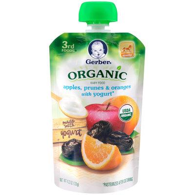Gerber® Organic 3rd Foods® Apples, Prunes & Oranges with Yogurt Baby Food 4.23 oz. Pouch