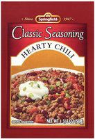 Springfield® Classic Seasoning Hearty Chili  1.75 oz. Packet