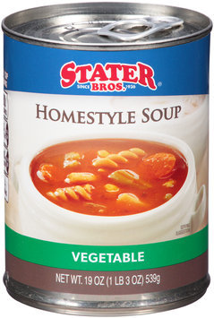 Stater Bros.® Vegetable Homestyle Soup 19 oz. Can