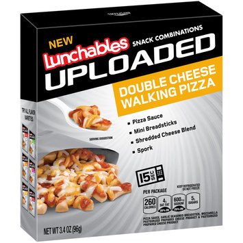 Lunchables Uploaded Double Cheese Walking Pizza